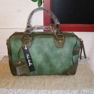 Pink Haley green satchel